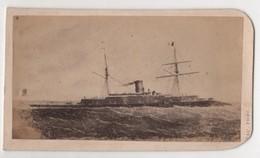 CDV Photo Originale XIXème Album Famille Davy CHERBOURG Marine Militaria Bateau Guerre Par Rideau Cdv 2615 - Photos