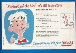 BUVARD - ENFANTS - SANTÉ - MÂCHE BIEN... ENCORE DES MUSCLES... - Bambini