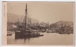 CDV Photo Originale XIXème Album Famille Davy CHERBOURG Marine Militaria Bateau Chantier Naval Par Rideau Cdv 2616 - Photos