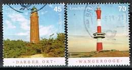Bund 2018, Michel# 3391 - 3392 O Leuchttürme: Darßer Ort Und Wangerooge - BRD