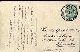 41671 Italia,cartolina Viaggiata 1917 Da Aiello Del Friuli Posta Italiane A Portiolo Mantova - 1900-44 Vittorio Emanuele III