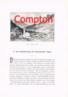 280 E.T.Compton Penninische Alpen Gressoney Artikel Mit 3 Bildern 1896 !! - Documenti Storici