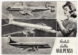 AEREI - AVIAZIONE - AEROPORTO - SALUTI DALLA MALPENSA - Vedi Retro - 1946-....: Modern Era