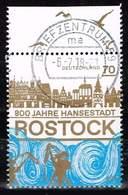 Bund 2018, Michel# 3395 O 800 Jahre Hansestadt Rostock - BRD