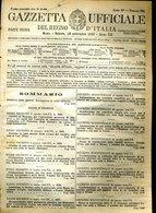 230  MOTIVAZIONI DI MEDAGLIA SU G.U.1942 LAVELLO FAENZA NOVOLI GALDO GUARDAVALLE DECIMA NOVELLARA LINZANICO - Documenti Storici