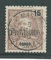 Correios Portugal 15 Reis Met Opdruk Congo Provisorio - Angola