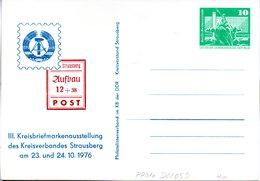 "DDR Privatganzsachen PP 016 D2/059 ""Bauwerke-10Pf.grün-Neptunbrunnen"",""III. Kreis-BM-Ausstellung Strausberg"",ungebraucht - DDR"
