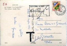 41673 France, Circuled Card With Special Postmark 1960 Menton, Festival  Musical De Menton - Musique