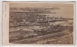CDV Photo Originale XIXème Album Famille Davy CHERBOURG Marine Bateau Flotte Par Rideau Cdv 2621 - Photos