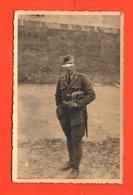 Trombettiere Con Tromba  Baionetta  Regio Esercito Foto Anni '40 Bugler Clairon Hornist Soldier - Guerra, Militari