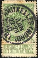"""COB   83  (o) Oblitération """"Bruxelles (Nord)(Départ)"""" T1L - 1893-1907 Armoiries"""