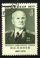 URSS. N°4372 Oblitéré De 1977. Maréchal Koniev. - Militaria