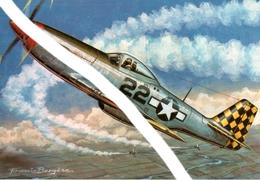 Nord American P 51 Mustang - Dessin De Francis Bergèse - Aviation