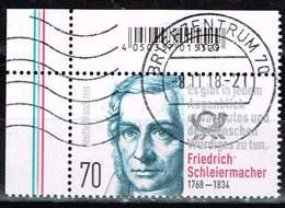 Bund 2018, Michel# 3419 O 250. Geburtstag Friedrich Schleiermacher - BRD