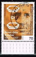 Bund 2018, Michel# 3420 O 100. Geburtstag Ernst Otto Fischer - BRD