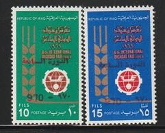 IRAQ / IRAK - N°602/3 ** (1970) Surchargés En Rouge - Iraq