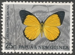 Papua New Guinea. 1966 Decimal Currency. Butterflies. 25c Used. SG 89 - Papouasie-Nouvelle-Guinée