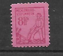 Alliierte Besetzung Sowjetische Zone Mecklenburg-Vorpommern  Mi 11  FM: 1. Ausgabe  Pfr. - Sowjetische Zone (SBZ)