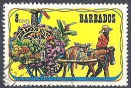 Barbados, 1975 Crop-over Festival, 8c Multi # SG. 531 - Michel 393 - Scott 424  USED - Barbades (1966-...)