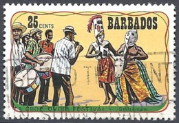 Barbados, 1975 Crop-over Festival, 25c Multi # SG. 532 - Michel 394 - Scott 425  USED - Barbades (1966-...)