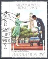 Barbados, 1977 Royal Visit, 15c Multi, Self-adhesive  # SG. 590 - Michel 434 - Scott 467  USED - Barbades (1966-...)