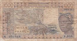 AFRIQUE DE L'OUEST - 1000 Francs - États D'Afrique De L'Ouest
