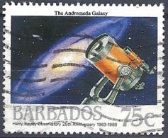 Barbados, 1988 Space, 75c Andromeda Galax  # SG. 874 - Michel 711 - Scott 737  USED - Barbades (1966-...)