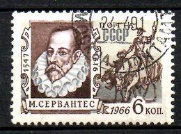 URSS. N°3179 Oblitéré De 1966. Cervantes. - Ecrivains
