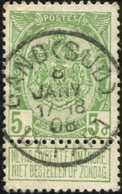 """COB   83  (o) Oblitération """"Gand (Sud)(Départ) """" T1L - 1893-1907 Armoiries"""
