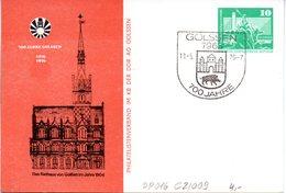 """DDR Privatganzsachen PP 016 C2/009 """"Bauwerke-10Pf.grün-Neptunbrunnen"""",""""700 Jahre GOLSSEN"""", SSt 11.5.76 GOLSSEN - DDR"""
