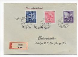 BÖHMEN Und MÄHREN - 1943 - ENVELOPPE RECOMMANDEE De KLATOVY => BAYREUTH - WAGNER - MUSIQUE - Lettres & Documents