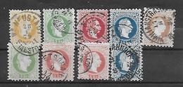 Österreich 1867  FM: Kaiser Franz Joseph Lot Mi 35/41  Gestempelt - 1850-1918 Imperium