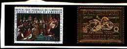 90387) CAMEUN- 1968 QUADRI DI NAPOLEONE POSTA AEREA-MNH**-SERIE COMPLETA N. 136-37 - Cameroun (1960-...)