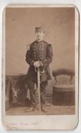 CDV Photo Originale XIXème Famille Davy CHERBOURG Militaria Officier Par Ferrié Rodez 1870 Cdv 2628 - Photos