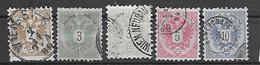 Österreich 1883  FM: Doppeladler  Mi 44/47  Gestempelt - 1850-1918 Imperium