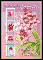 AZERBAIDJAN - BLOC-FEUILLET - MINIATURE SHEET - 2005 - FLEURS - FLOWERS - ORCHIDS - ORCHIDEES - - Azerbaïdjan