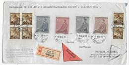 BÖHMEN Und MÄHREN - 1942 - ENVELOPPE RECOMMANDEE CONTRE-REMBOURSEMENT De PRAGUE => FORBACH (MOSELLE) - Bohême & Moravie