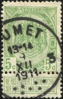 "COB   83  (o) Oblitération ""Jumet 3"" T4R 7Pt - 1893-1907 Armoiries"