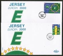 CEPT 2000 JE MI 922-23 JERSEY FDC - Europa-CEPT