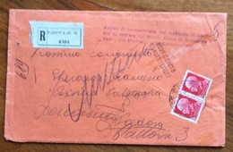 """IMPERIALE Coppia 75 C. SU RACC. 15/1/37 """" Avviso Comparizione Infortunio Operaio Sul Lavoro Tassa A Carico Corporazioni"""" - 1900-44 Vittorio Emanuele III"""