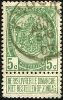 "COB   83  (o) Oblitération ""Knokke"" T1L - 1893-1907 Armoiries"
