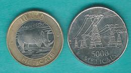 Mozambique - 1998 - 5000 Meticais (KM124) & 2003 - 10000 Meticais (KM131) - Mozambique
