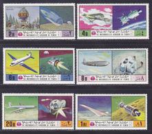 YEMEN ROYAUME AERIENS N°  115 ** MNH Neufs Sans Charnière, 6 Val. TB (D8258) Avions, Cosmos, Apollo - 1970 - Yemen