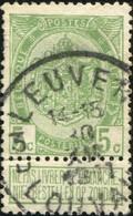 """COB   83  (o) Oblitération """"Leuven Louvain 3 D """" T4R - 1893-1907 Armoiries"""
