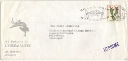MONACO  543 (o) Lettre Avec Flamme Du Grand Prix Automobile De Monte-Carlo 1962 Editions Oiseau-Lyyre - Monaco