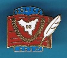 PIN'S //   ** POLICE / C.D.S.F./ CENTRE DÉPARTEMENTAL DES STAGES ET DE LA FORMATION ** - Police
