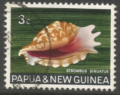 Papua New Guinea. 1968-69 Sea Shells. 3c Used. SG 138 - Papouasie-Nouvelle-Guinée