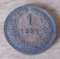 Autriche - Monnaie 1 Kreuzer 1881 SUP - Autriche