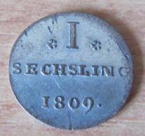 Allemagne / Hambourg (Hamburg) - Monnaie 1 Sechsling 1809 En Billon - TTB - 192 000 Exemplaires - [ 1] …-1871 : Etats Allemands