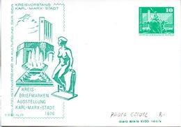 "DDR Privatganzsachen PP 016C2/012 ""Bauwerke-10Pf.grün-Neptunbrunnen"",""Kreis-BM-Ausstellung"", Ungebraucht - DDR"